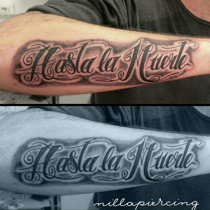 Lettering by Nilla Piercing  #tatuaggio #tattoo #ink #tattoos #tatuaggi #inked #tattooed #tattooartist #tattooing #inkedup #guyswithtattoos #tattoed #lettering #calligraphy #cursive #letteringtattoo #writing #scripttattoo #tatuaggiroma #romanord #pontemilvio #hastalamuerte