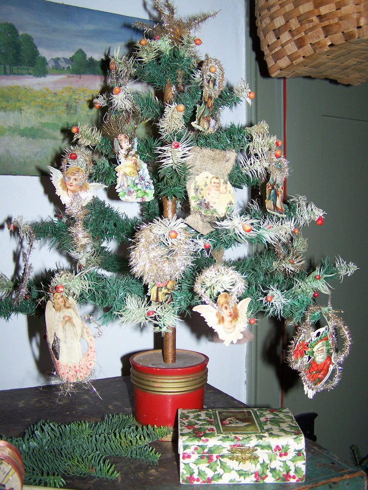 1666 best images about antique christmas  feather trees