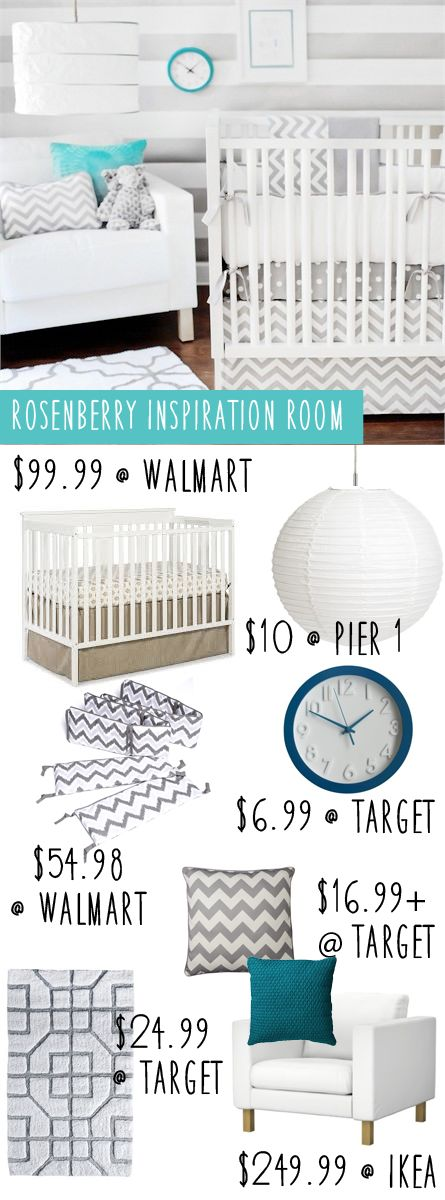 Recreate this Chevron Rosenberry Nursery On a Budget | Money Saving Sisters