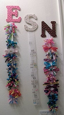 Hair bow holder and Earring holder.  LOVE them!