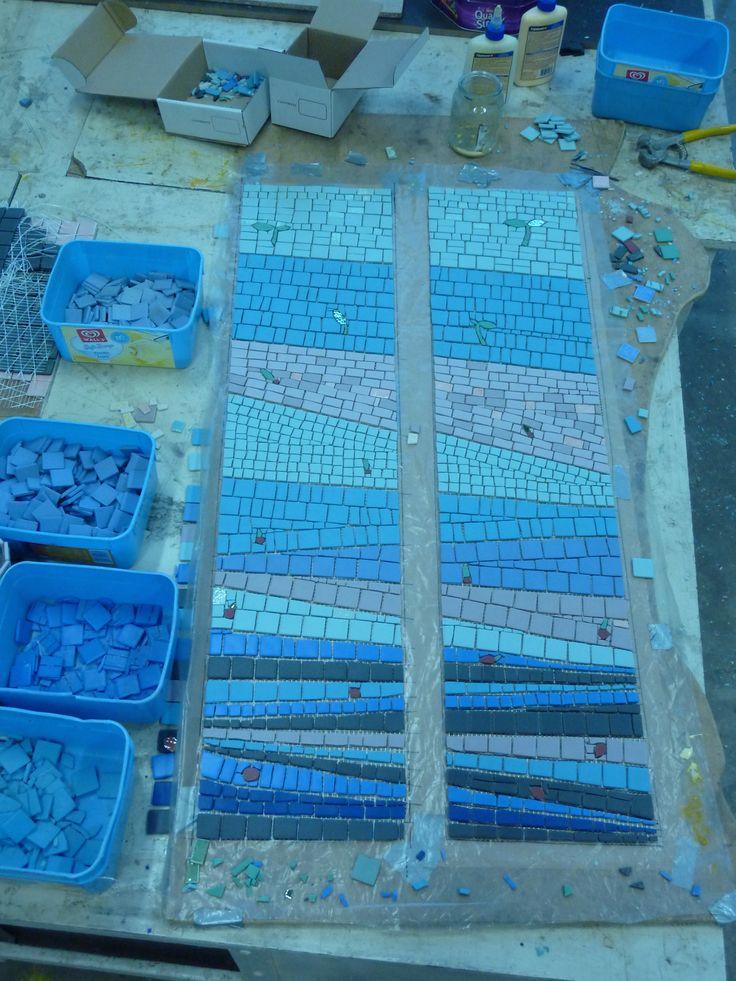 Mosaic in progress