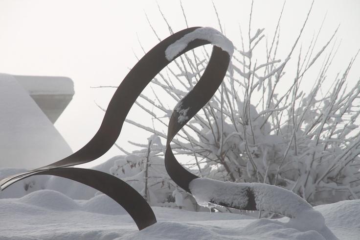 ...c'era una volta l'arte che incontrava la neve e....