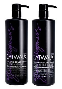 """TIGI  Catwalk """"Your Highness"""" dhampoo and conditioner. Best stuff ever!"""