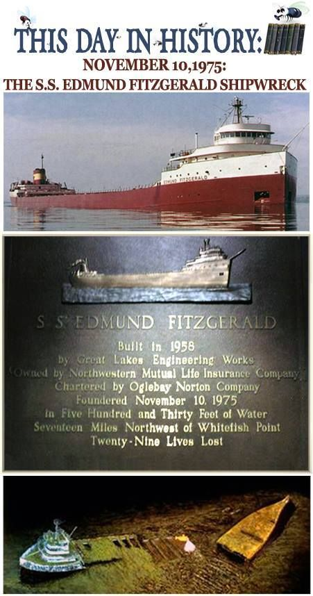 Today is the anniversary of the sinking of the Edmund Fitzgerald