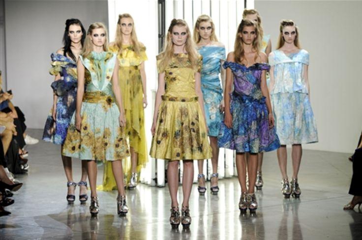 Die Frühjahrs-Kollektion 2012 von #Rodarte ist inspiriert von Gemälden van Goghs #artfashion