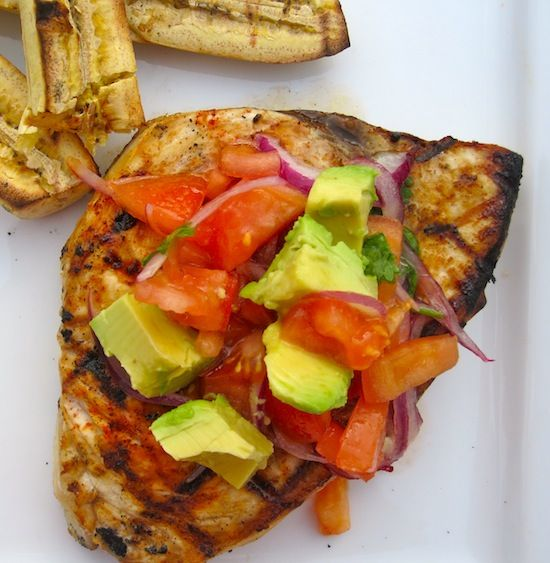 Grilled swordfish with avocado salsa recipe dinner for Sword fish recipes