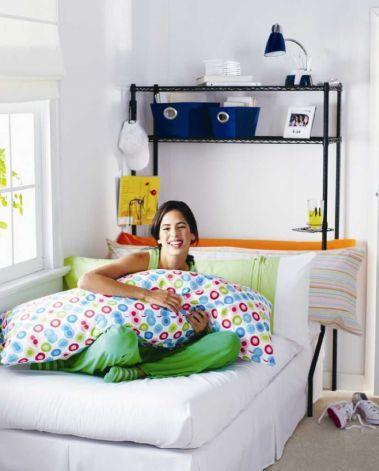 Dorm Space Saver Bed Shelf | Dorm Space Saver: This Unit Incorporates A  Detachable Shelf