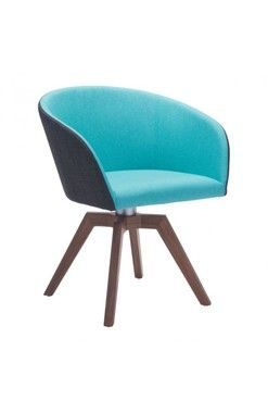 SKU: ZM-100268-C Set included two wander swivel blue and gray dining chairs. Wander dining chair is petite Mid-Century Modern perfection, as the stunning upholstery in brilliant blue aqua has a poly-s