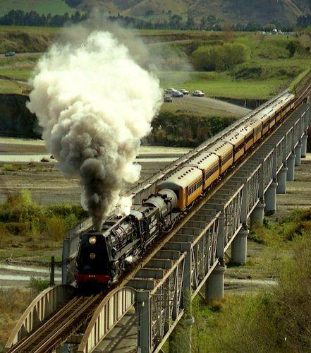 ˚Steam Train On Dashwood Bridge - New Zealand