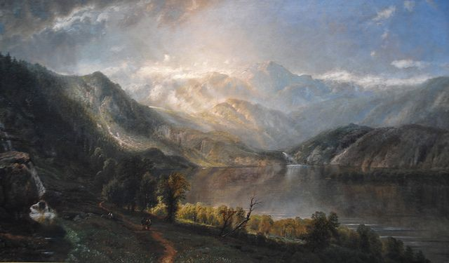 Edmund Darch Lewis - Lake Willoughby, 1867 at Pennsylvania Academy of the Fine Arts - Philadelphia PA | Flickr - Photo Sharing!