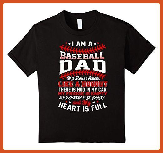 Kids Baseball Dad T Shirts - Best Gift For Mom Dad 6 Black - Sports shirts (*Partner-Link)