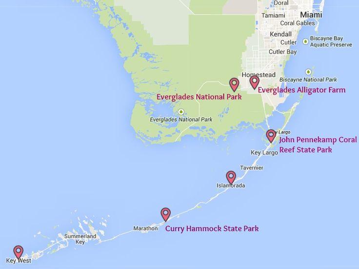 carte - Floride du Sud