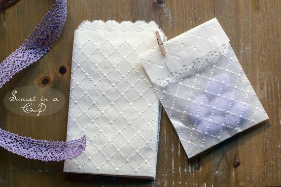 10 sacchetti goffrati in carta pergamina