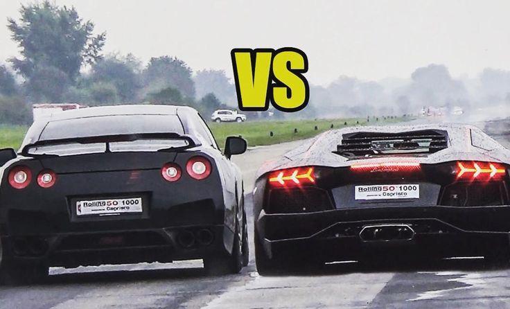 Nissan GTR and Lamborghini Aventador .