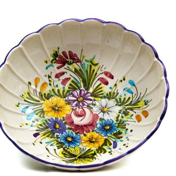 Ciotola fruttiera in ceramica artigianale Fioraccio - Liberati