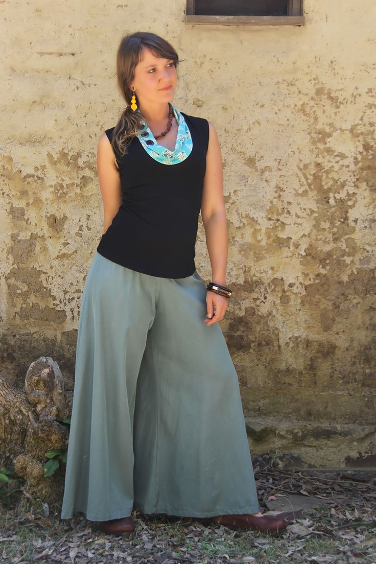 Glide pants - Cloud Silk/cotton with stretch waistband. Super wide leg. Ethically handmade in Australia.