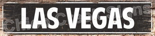 LAS VEGAS Street Plate Sign Chic Decor 4180054