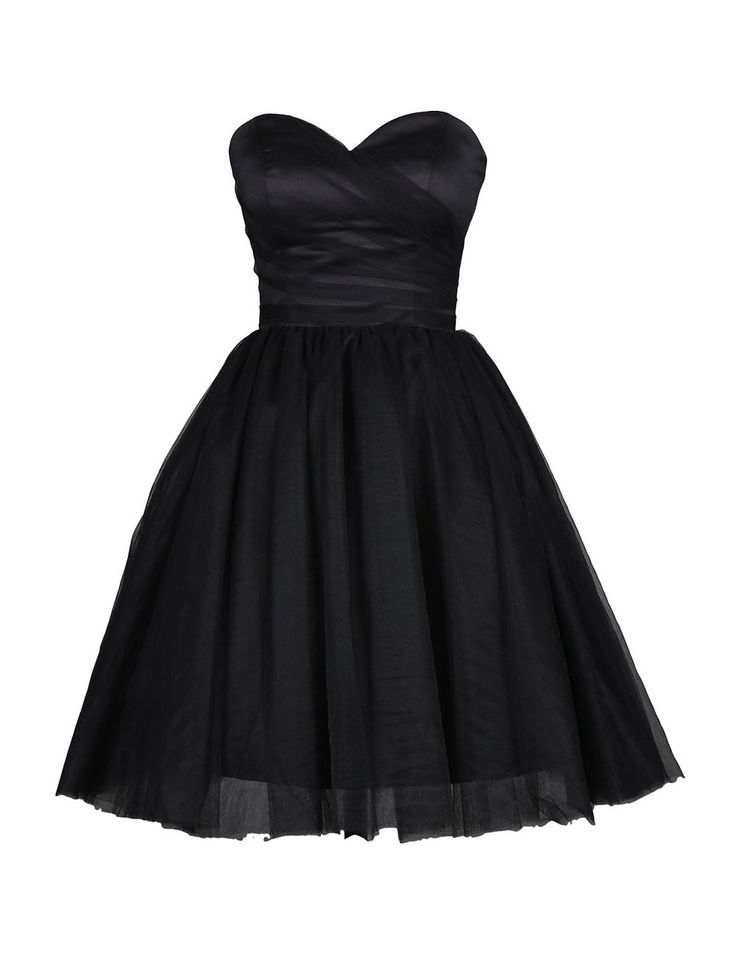 Tidetell.com Simple A-line Sweetheart Knee Length Tulle Homecoming/Cocktail Dress, black homecoming dresses, juniors homecoming dresses, cheap homecoming dresses, short homecoming dresses, plus size homecoming dresses
