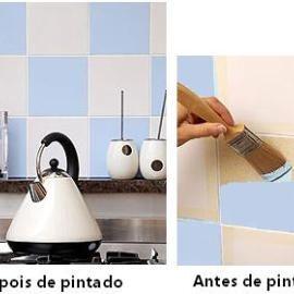 Descrição: Como pintar azulejo - Guia passo a passo de como pintar azulejo. Confira, dicas e respostas sobre como pintar azulejo da cozinha ou banheiro. Saiba mais
