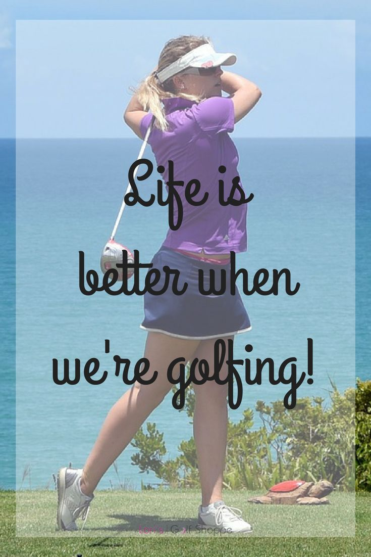 Do you agree golfers? More golf inspiration at #lorisgolfshoppe