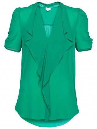Aritzia = T. Babaton Tinsley Blouse in Emerald Green. A great top for work or casual wear--and the color pops out at you! Makes me want to celebrate St. Patty's every single day.