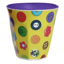 Buttons Melamine Cup Yellow