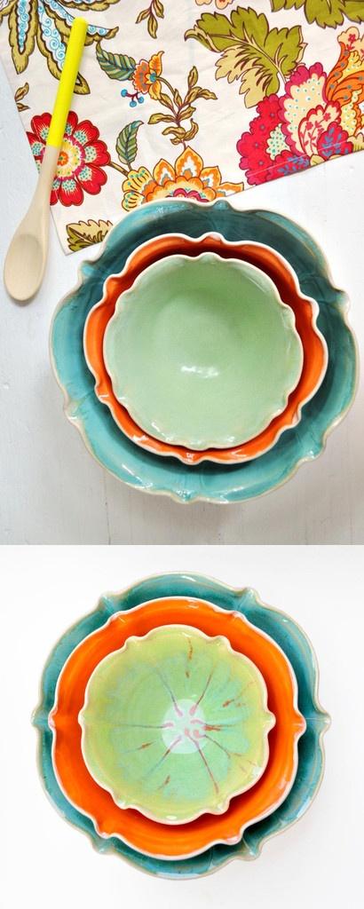 Lee Wolfe Pottery —new Nesting Bowl Set