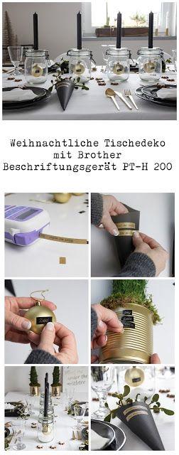 Weihnachtliche Tischedeko mit Brother Beschriftungsgerät P-touch H200  @brotherDeutschland