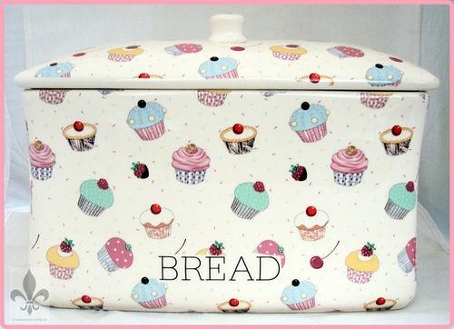Cupcake Bread Box Bin