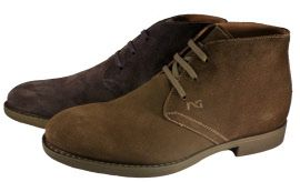 Suede desert boots for men, made in Italy by Nero Giardini