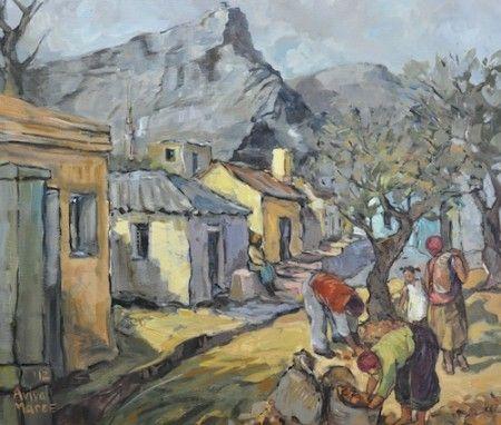 Aviva Maree Bo-Kaap Mense Acrylic on Canvas 69x59cm