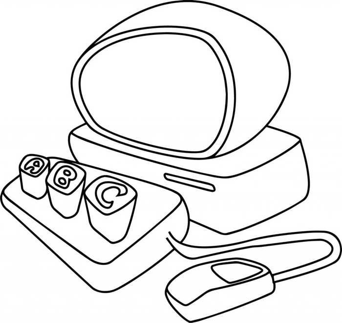 Computer Coloring Pages Printable Coloring Pages For Kids