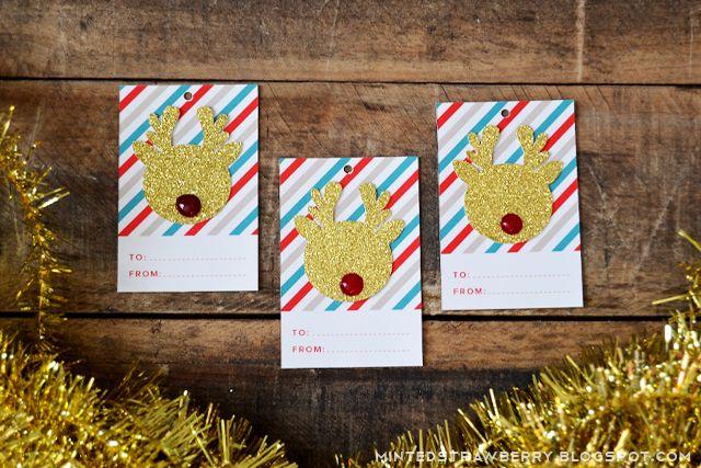 FREE PRINTABLE : 꾸미기 선물 태그   마지막 순간 크리스마스 선물 태그