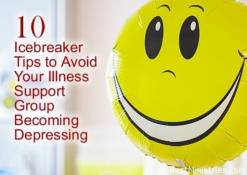 Is your support group getting a bit depressing? If so, it is time for some icebreaker ideas to bring the joy back (before it's too late!) This site has some clever ideas to keep things on a positive note when dealing with difficult challenges of leading a group