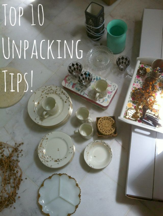 Moving into a new home  unpacking tips!