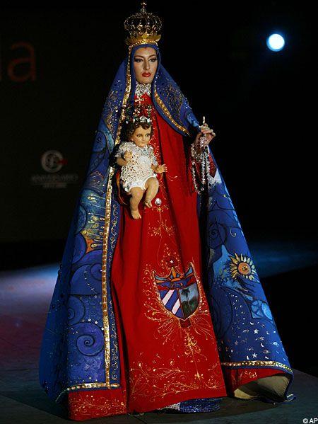 Virgin Mary A model wears a creation by Cuban designer Ismael de la Caridad ...