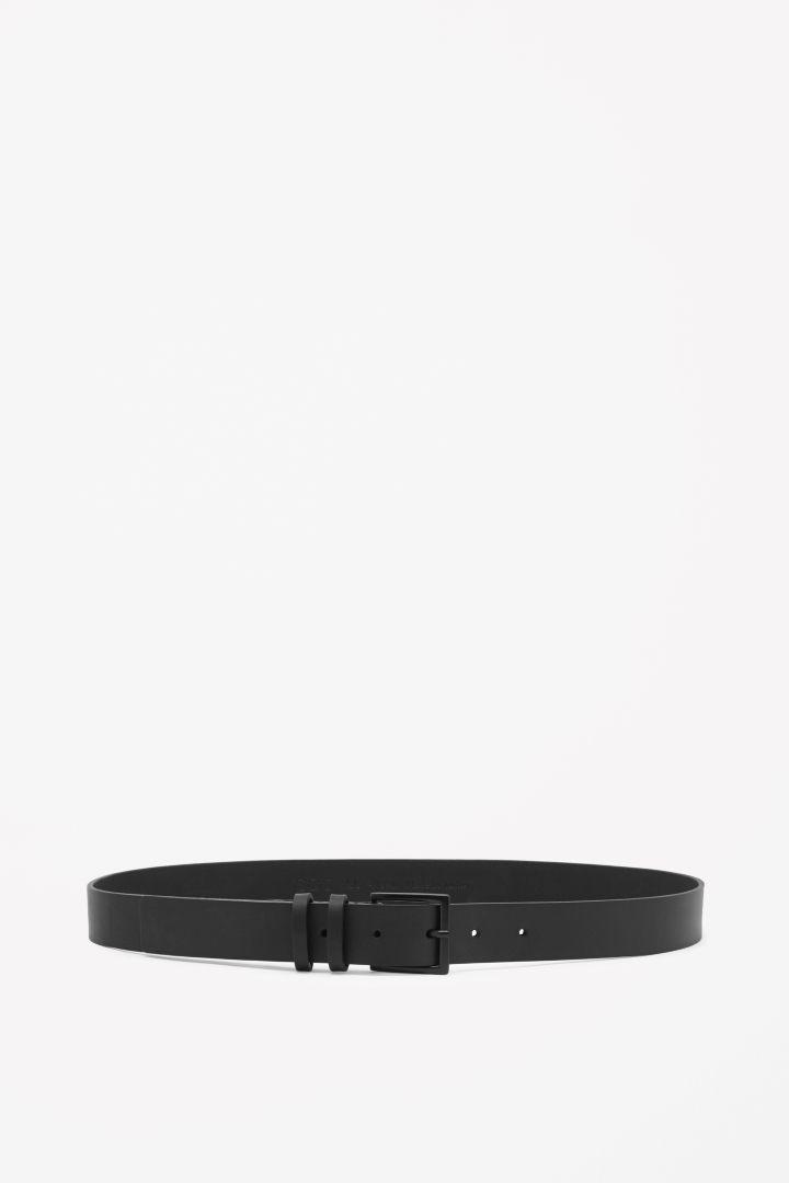 MINIMAL + CLASSIC: Minimalist matte buckle belt