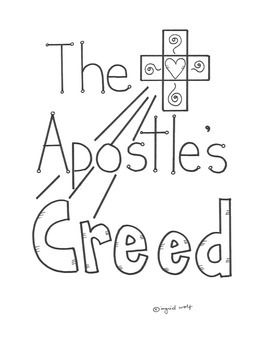 Help students understand the Apostle's Creed with this nice booklet.