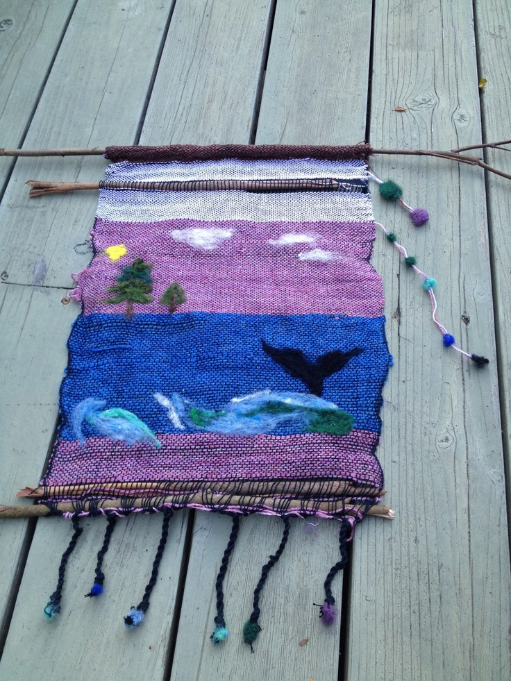 saori weaving with needle felted detail