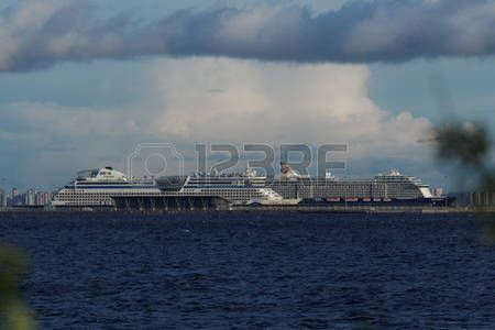 St. Petersburg, Russia - June 1, 2017: Cruise liners in the Passenger Port of Saint Petersburg. It is the first and only specialized passenger port in the North-West of Russia and also the largest one in the Baltic region