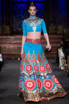Model walks runway in an outfit from Indian by Manish Arora, during the Indo-American Arts Council 15th Anniversary Gala at the Angel Orensa...