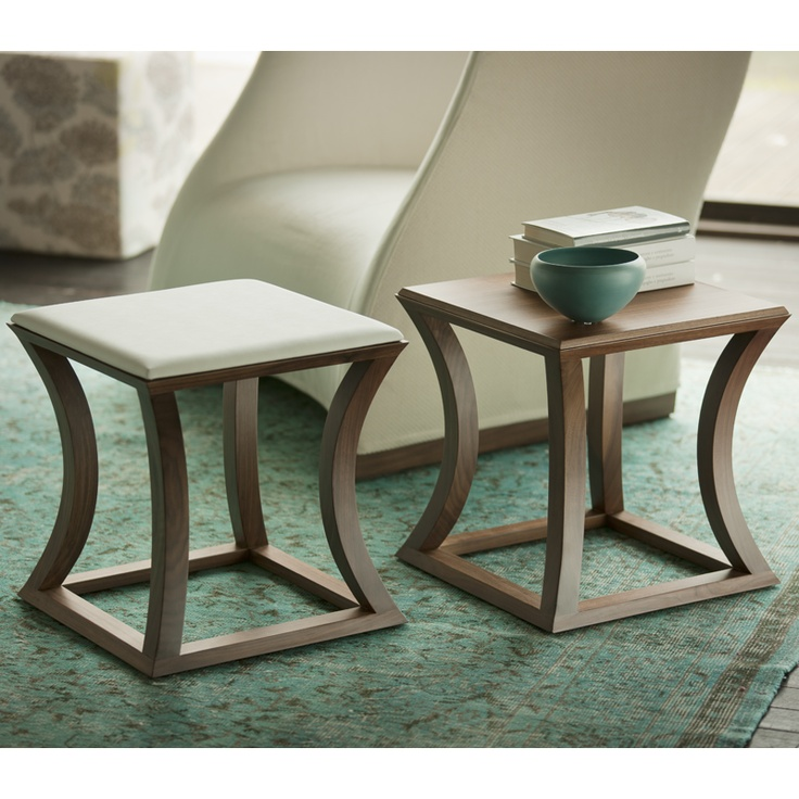 Awesome Stefano Bigi Elegantly Crafted The Bonnie Square Side Table With Concave  Canaletta Wood Strips To Perfection