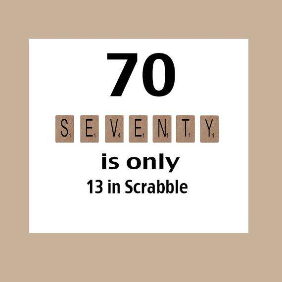 70th Birthday Card Milestone Scrabble