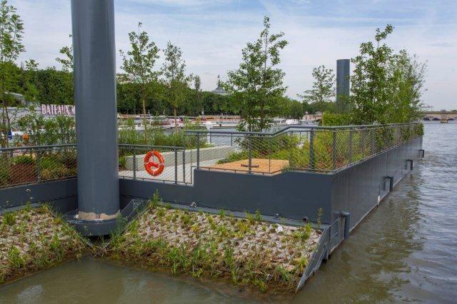 Le jardin flottant ©Marc Verhille/Mairie de Paris