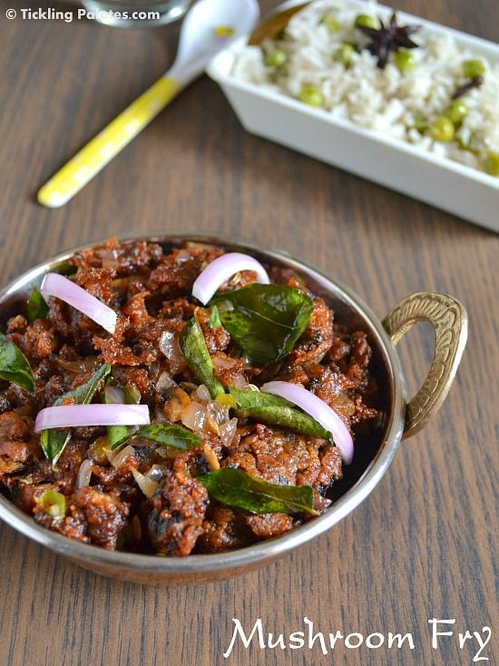 Spicy Mushroom Fry - Enjoy it as an appetizer or serve it as an accompaniment with rice or flat breads