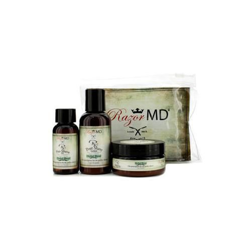 RX Shave Trio (Herbal Blend): Post Shave Lotion 60ml + Pre Shave Oil 30ml + Shave Cream 60ml 3pcs