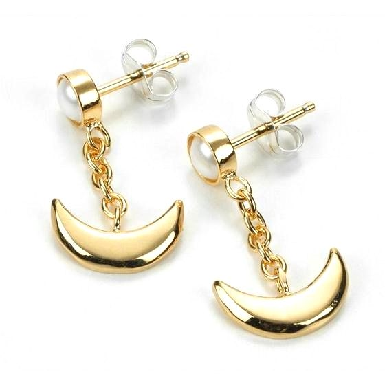 Official Japanese Premium Bandai Sailor Moon Crescent Moon Earrings http://www.moonkitty.net/reviews-buy-sailor-moon-jewelry.php #SailorMoon