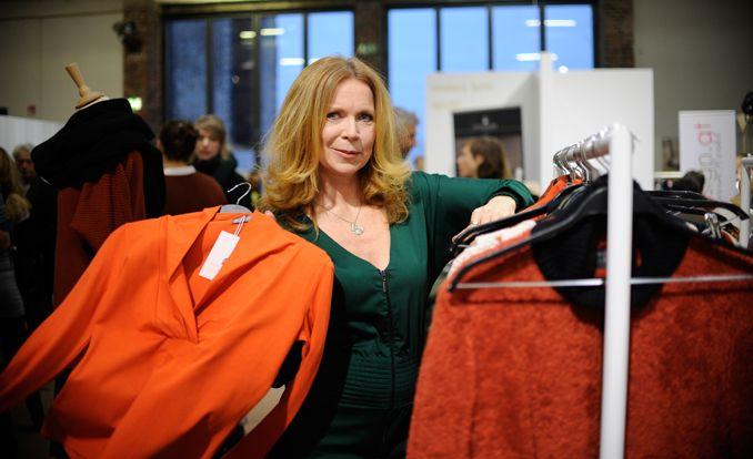 Greenschowroom Fashion Berlin, Marion Kracht mit ihrer Kollektion