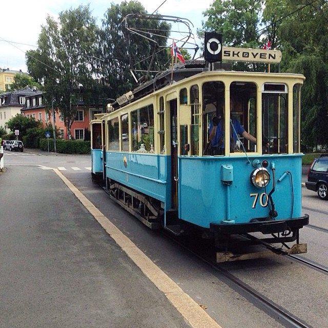Gammel Trikk på Drammensveien, Oslo - Noeway #trikk #sporvogn #tram #oslo #eiendomania
