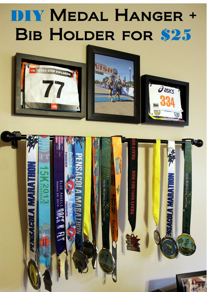 DIY Medal Hanger & Bib Holder